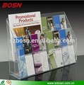 8-Pocket, 2-Tier Clear Adjustable Acrylic Brochure Holder For Display