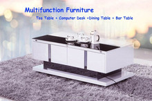 LZ298 lift up tea table modern lift top tea table with storage