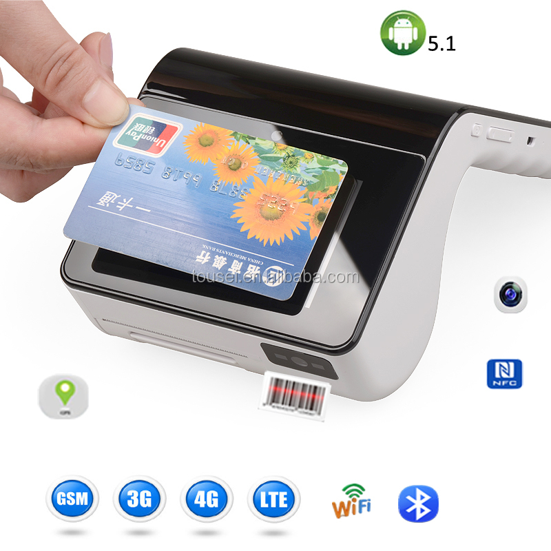 Handheld mobile touch screen pos system barcode scanning phone wifi 2g 3g 4g wifi
