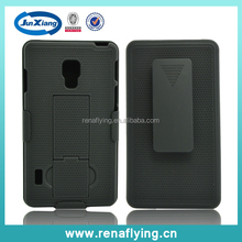 Rubberized holster hard case for LG optimus l7 ii dual p715