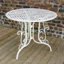 Decorative and Stylish Garden Patio Table With Parasol Hole Wrought Iron