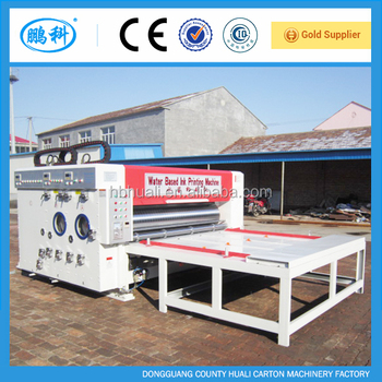 corrugated paperboard 2 colors printing and slotting machine
