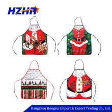 Wholesale Christmas Kitchen Accessories Christmas Sexy Santa Claus Waterproof Polyester Apron
