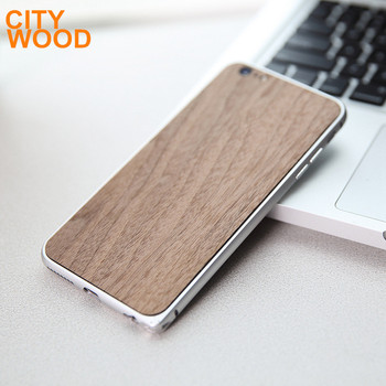 wood phone cover with aluminium Bumper for 6/6S