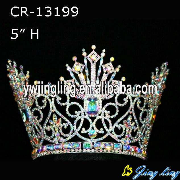 special style and all AB stone beauty queen full round pageant crown