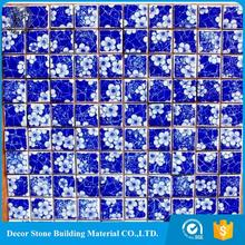 Chinese style Blue Pacific Ocean Ceramic Mosaic for <strong>bathroom</strong> tile