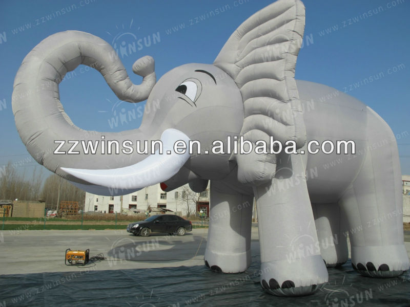 CE Customised birthday elephant inflatable with CEair blower
