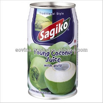 SOVINA- Sagiko Young Coconut Juice with Pulp 320ml