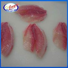 Hot sale high quality red fish meat black tilapia fillet