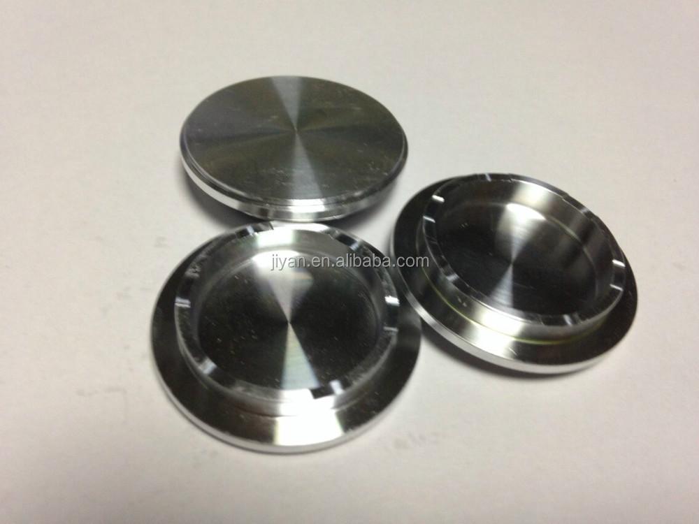 Anodized Aluminum Parts : Oem anodized machined aluminum cap parts for high end