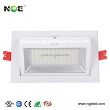 High luminous recessed led square downlight 60w led rectangular recessed light