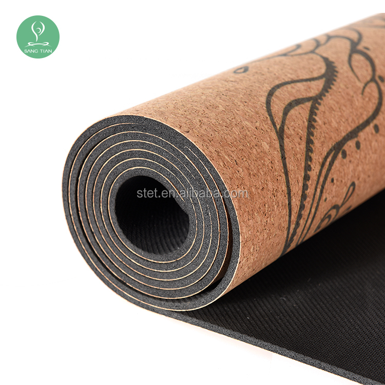 detail rubber eco mat printing natural mats tree yoga logo friendly product buy