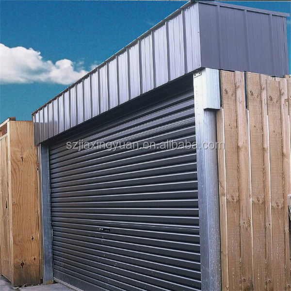 Motorized security steel rolling door design
