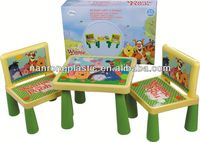 2013 New style wholesale high quality plastic kid table and chair baby shower chairs for rent
