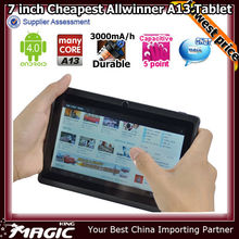 Good quality android 7 inch v max tablets