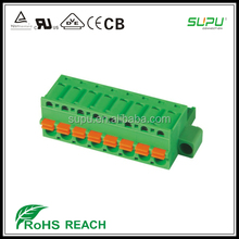 Phoenix MC series female pluggable terminal Connector with fixing flanges