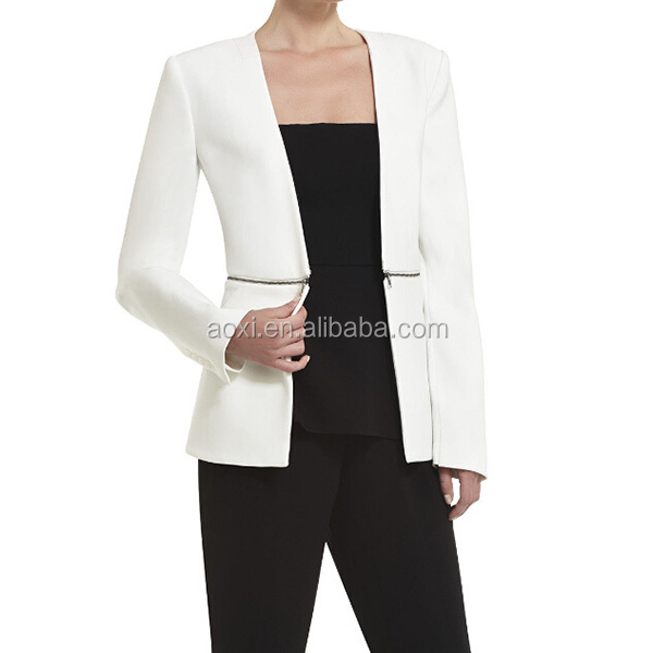 wholesale alibaba OEM china supplier latest design white women office uniform style