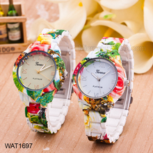 Fashion Printing Women Silicon Watch For Wholesale