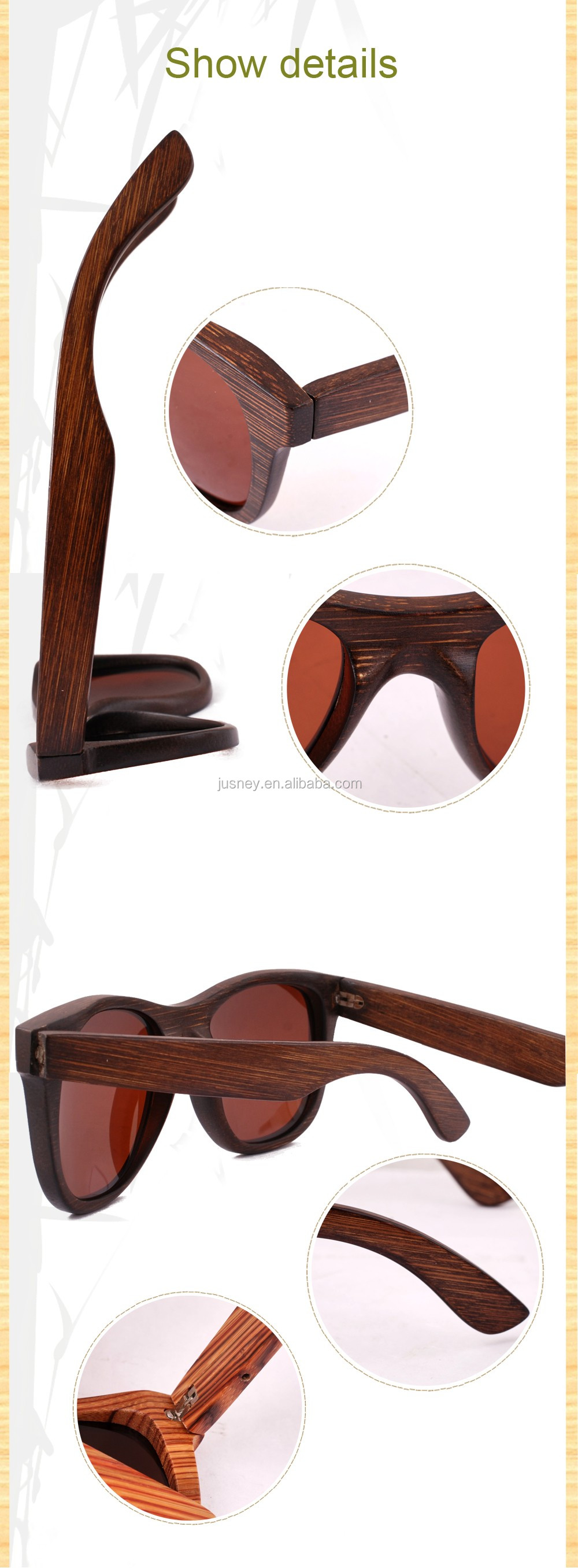 Best Price Custom Wood Sunglasses With Bamboo Packing Wholesale