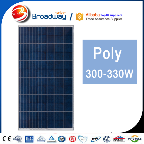 Broadway Factory Price 310 Watt A Grade Cell Poly 310W Commercial Grade Solar Panels
