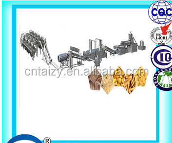 chinese popular the cat's ear shape snake food processing line