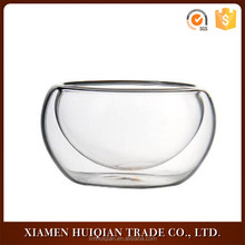 High quality custom size clear wholesale glass tea cup