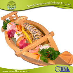 Manufacture best quality disposable wood sushi container For OEM