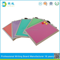aluminum frame color kids magnetic writing board