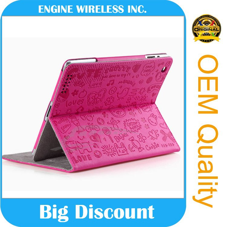 GuangZhou factory leather case for 6 inch tablet pc