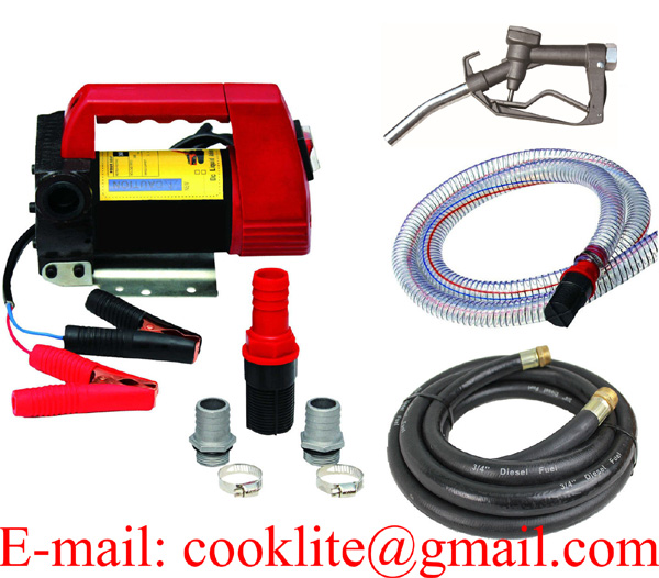 Portable electric diesel oil and fuel transfer extractor pump motor self priming - 12V 175W