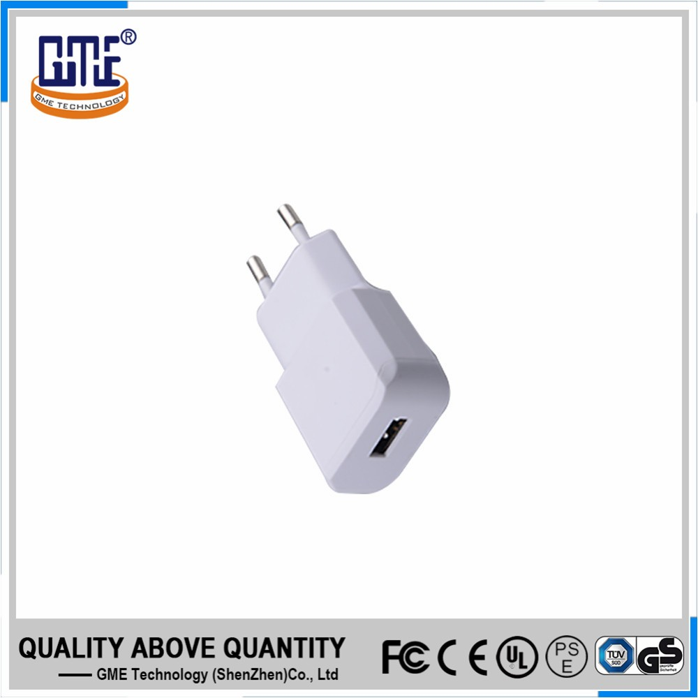 Factory wholesale EU portable input 100-240vac output 5v 2a USB fast charger