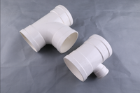 high quality cheaper connector T 150mm pvc pipe fittings