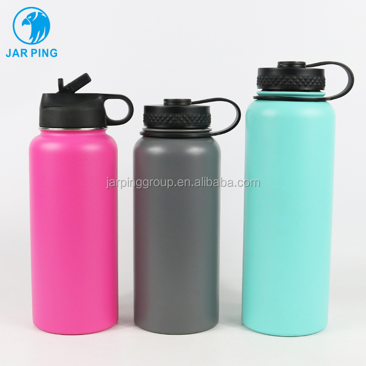 <strong>Sports</strong> Stainless Steel Insulated Water Bottle Double Walled Vacuum Flask Wide Mouth vacuum sealed insulation bottle