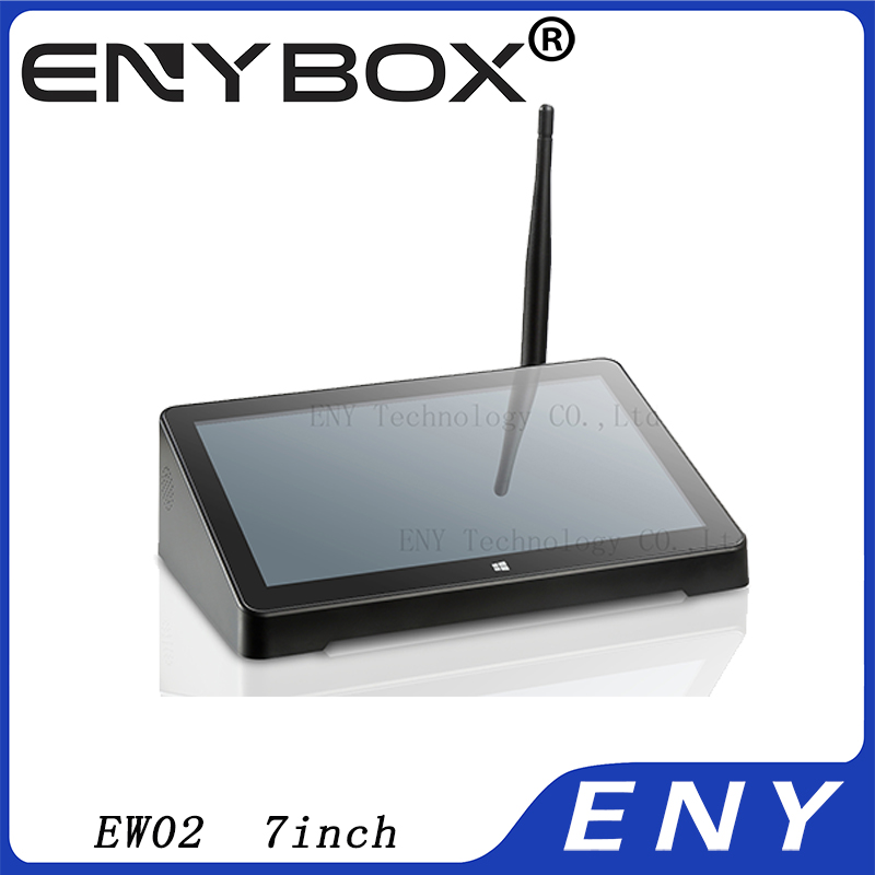 Intel Z3735F quad core Windows 8.1 and Android 4.4 Dual OS TV box EW02 media center 7inch touch screen