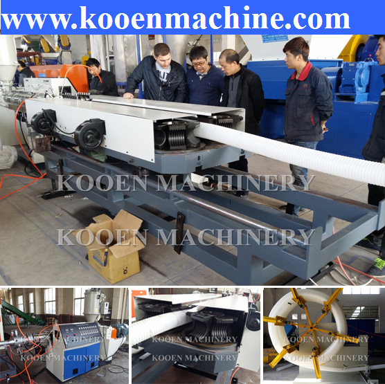 PVC single wall corrugated hose tube pipe plastic extruder machine production line