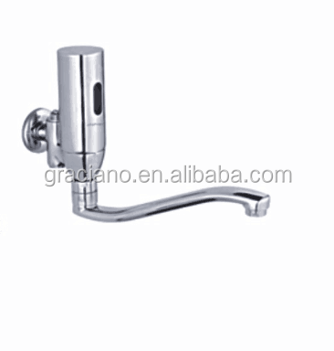 JN22407 Wall Mounted Long Neck Automatic Sensor Bathroom Faucet