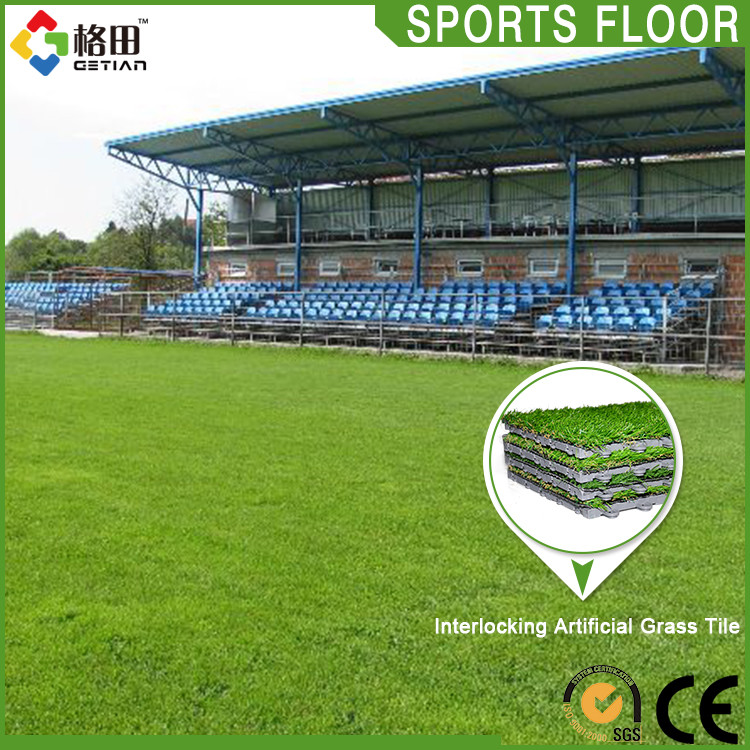 Popular multi-use interlocking synthetic grass used