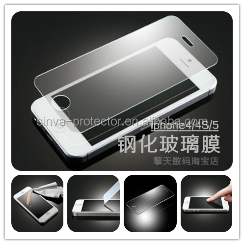 Asahi 9H hardness 0.3mm thickness 2.5D round edge tempered glass screen protector for iPhone 4s/blackberry <strong>q10</strong>