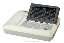 7 inch Big Screen Portable 3 Channel ECG,EKG, Electrocardiograph EM-301 with USB Access to Printer and Barcode Reader