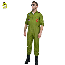 pilot costume men astronaut top gun costume with cool style for carnival party