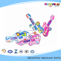 Funny music and light baby plastic guitar toy