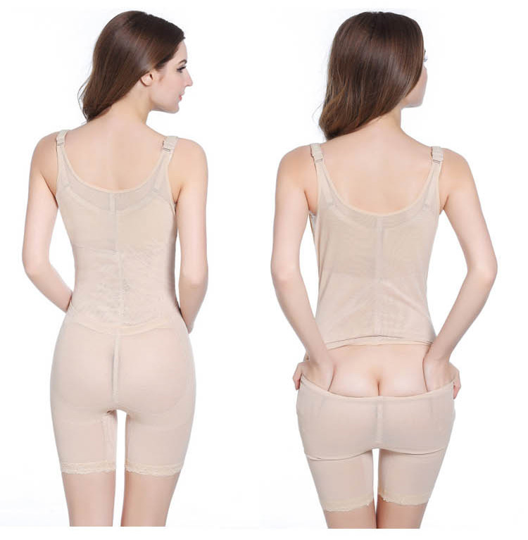 European Plus Size Women Body Shaper Postpartum Bodysuit Gather Chest Butt Lifter Corset Easy to Take Off