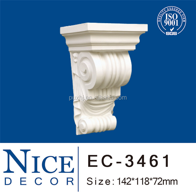 PU Exotic Corbels / Building Decoration / White European PU Exotic Corbels