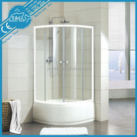 Hot sale tempered glass hinge shower enclosure