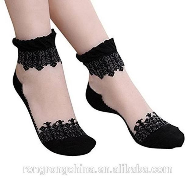 New Design Ultrathin Lace Fashion Girls Cotton Lace Ankle Socks