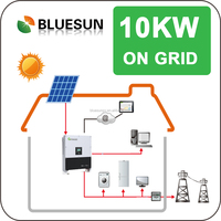 High efficiency pv panel energy 10kw on grid solar power generation system for household