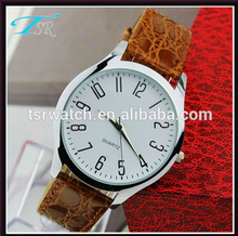 2017 perfect design big face leather strap water resistant quartz watches 3 bar