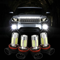 2pcs/lot H11 Xenon White 7.5W LED Car Fog Bulbs Light For 12V Car Vehicles