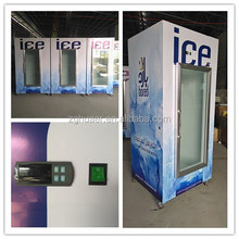 Bagged ice storage bin gas station freezer outdoor/Ice machine for bag