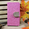 Fashionable Wallet Crystal Diamond Magnetic Clutch Case for iPhone 5 with Card holder